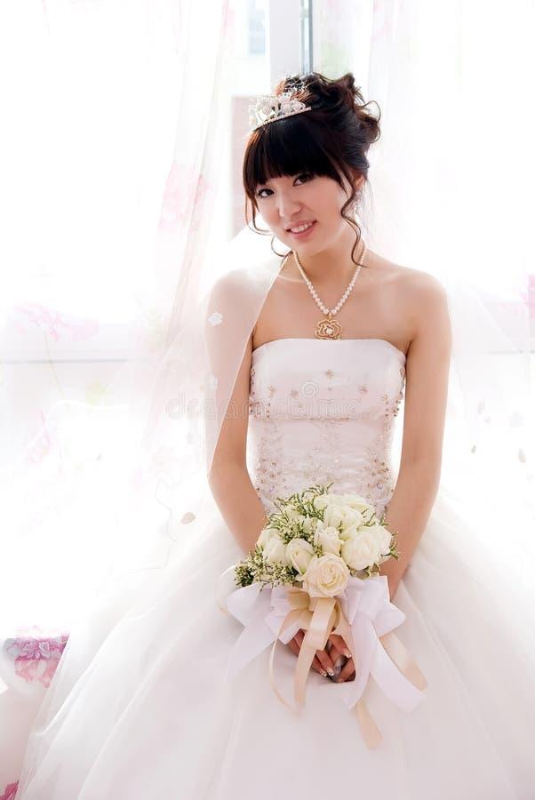 Braut in der Hochzeit lizenzfreie stockbilder