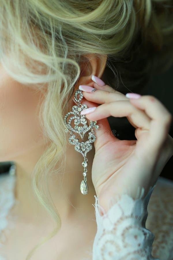Braut an der Hochzeit stockfoto