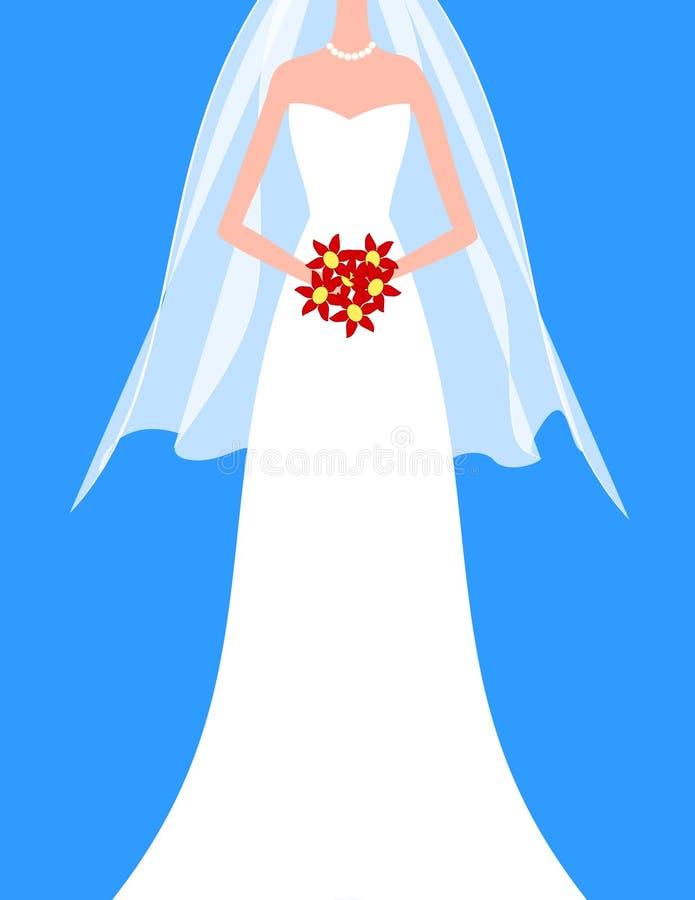 Braut mit Blumenstrauß lizenzfreies stockbild