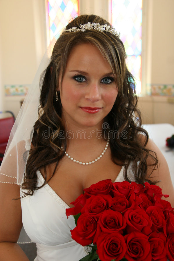 Braut-Portrait, bevor Wedding stockfoto