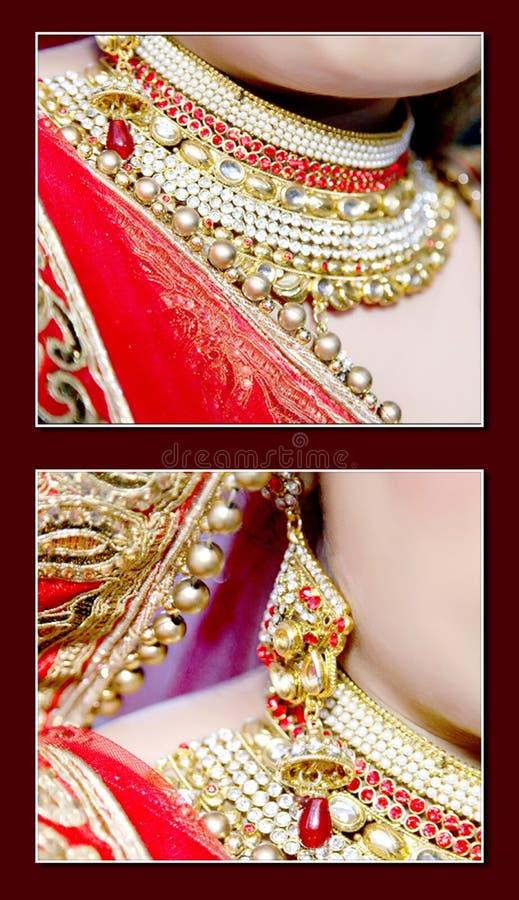 Braut ` s Schmuck in der indischen Hochzeit lizenzfreie stockfotos