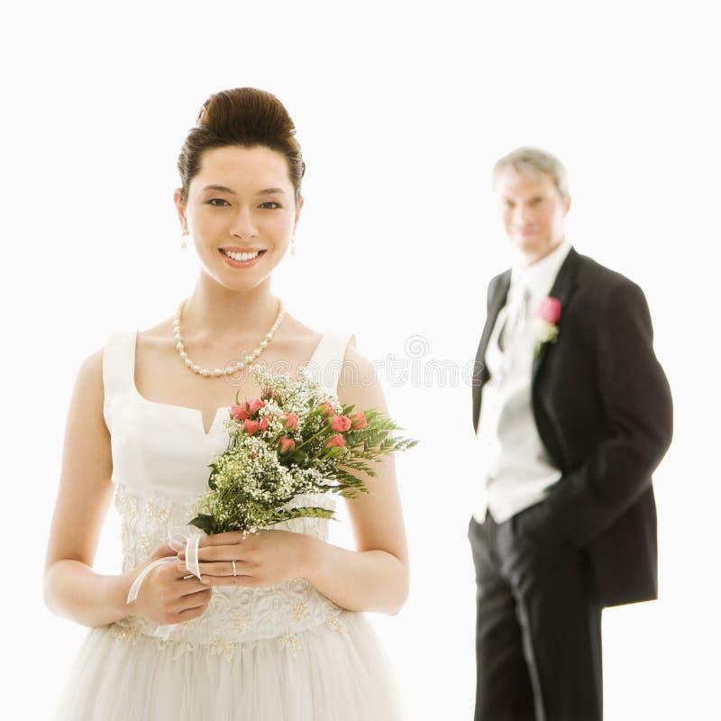 Braut und Bräutigam. lizenzfreie stockfotos