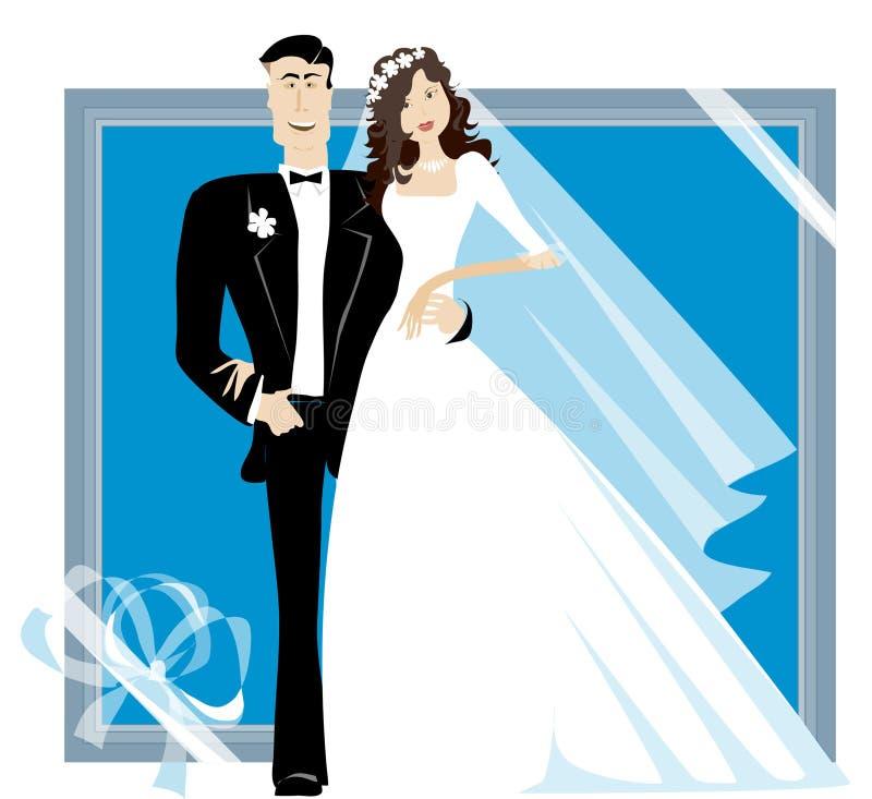 Braut und Bräutigam vektor abbildung