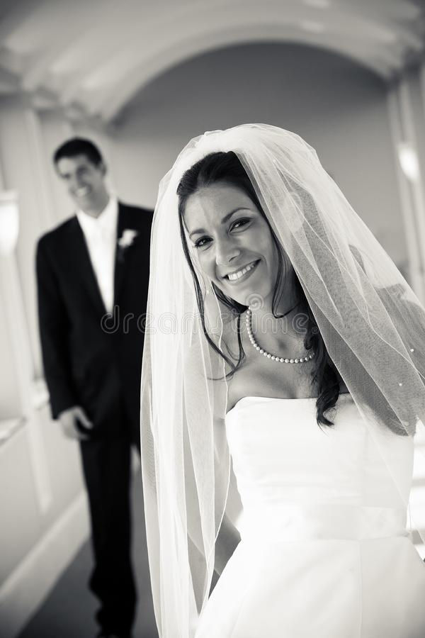 Braut und Bräutigam - Hochzeit stockfoto