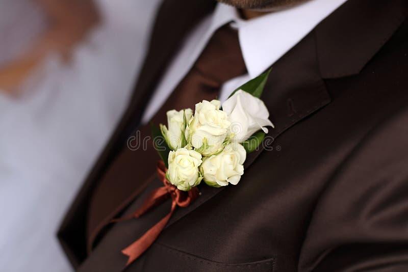 Braut- und Bräutigamhochzeit stockfoto
