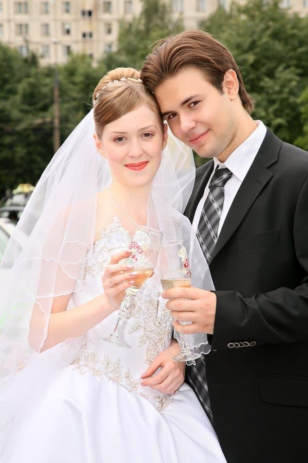 Braut und Verlobtes lizenzfreie stockbilder