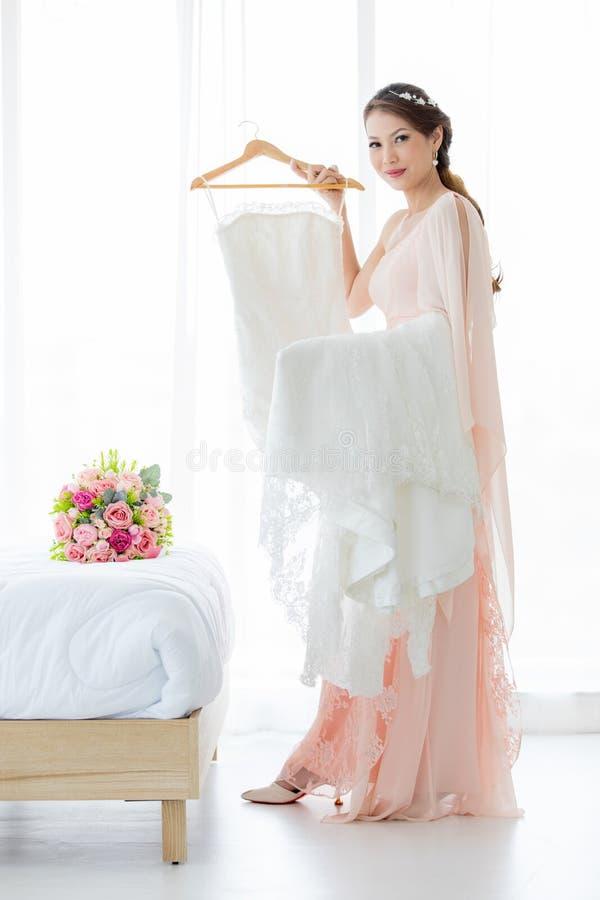 Braut und weddign Kleid stockfoto
