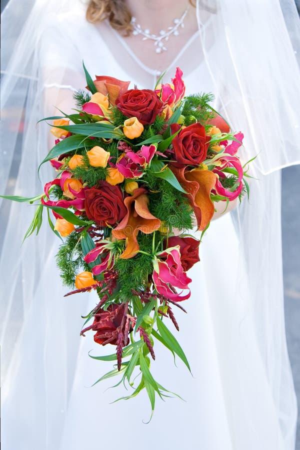 Brautblumenstrauß lizenzfreies stockfoto