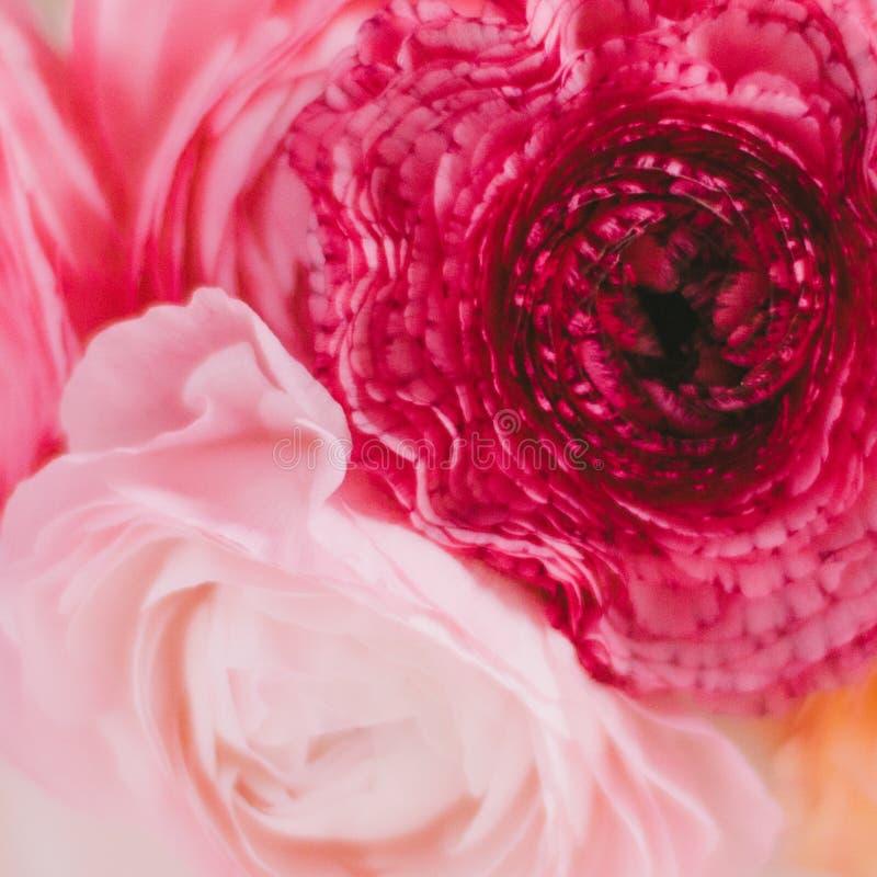 Brautblumenstrauß der rosafarbenen Blumen - Hochzeit, Feiertag und Blumengarten angeredetes Konzept lizenzfreie stockfotos