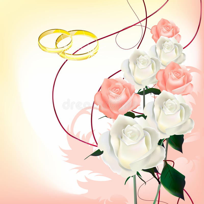 Brautblumenstrauß der Rosen lizenzfreie abbildung