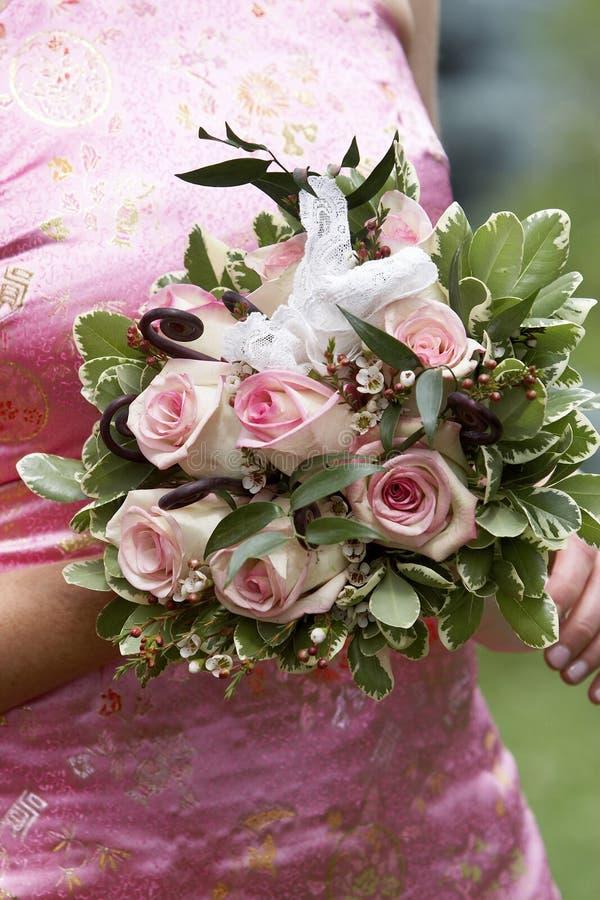 Brauthochzeitsblumenstrauß der Blumen lizenzfreies stockfoto