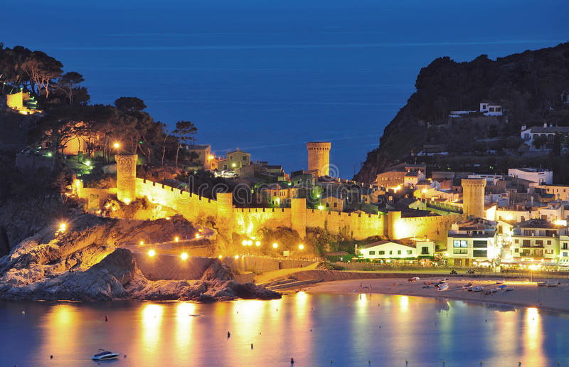 brava costa de Mar Spain tossa zdjęcia royalty free