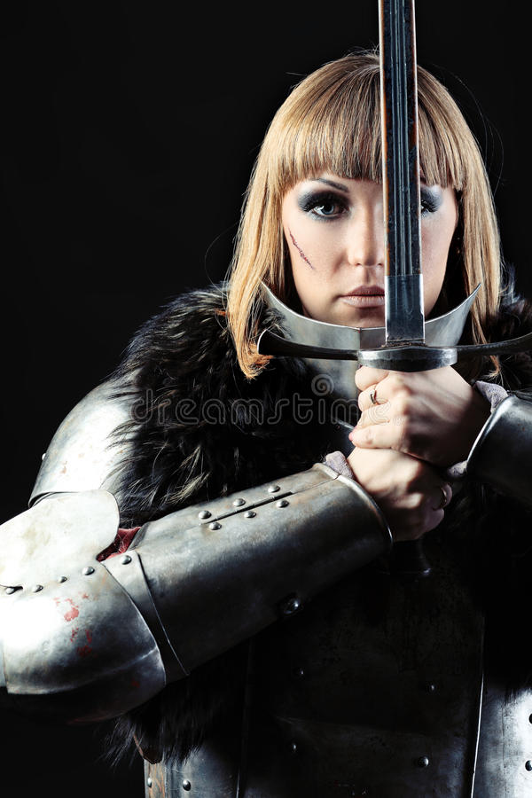 Download Brave stock photo. Image of combat, dark, girl, fight - 17030104