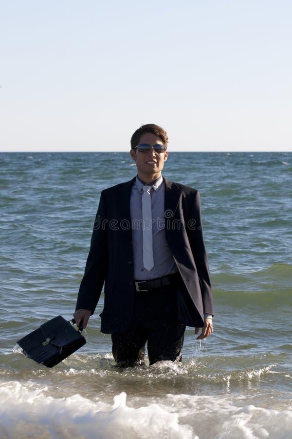 Download Brave business man stock image. Image of blue, shoreline - 16716169