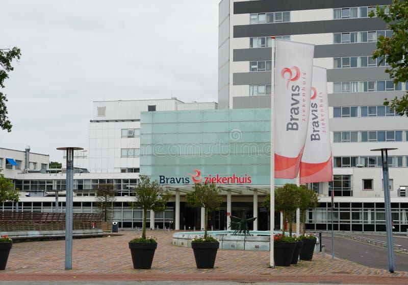 Bravis hospital in Bergen op Zoom in the Netherlands. Bergen op Zoom, the Netherlands. August 2019. Bravis hospital Dutch: ziekenhuis in the city of Bergen op stock photos