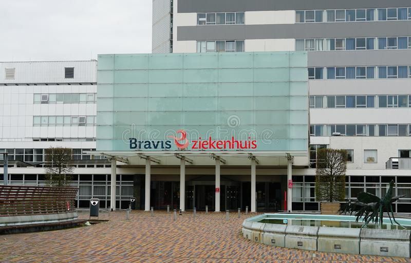 Bravis hospital in Bergen op Zoom in the Netherlands. Bergen op Zoom, the Netherlands. August 2019. Bravis hospital Dutch: ziekenhuis in the city of Bergen op royalty free stock image