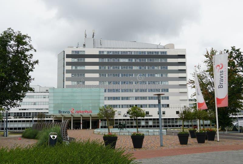 Bravis hospital in Bergen op Zoom in the Netherlands. Bergen op Zoom, the Netherlands. August 2019. Bravis hospital Dutch: ziekenhuis in the city of Bergen op royalty free stock images