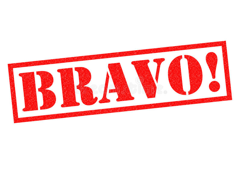 BRAVO! Rubberzegel royalty-vrije illustratie