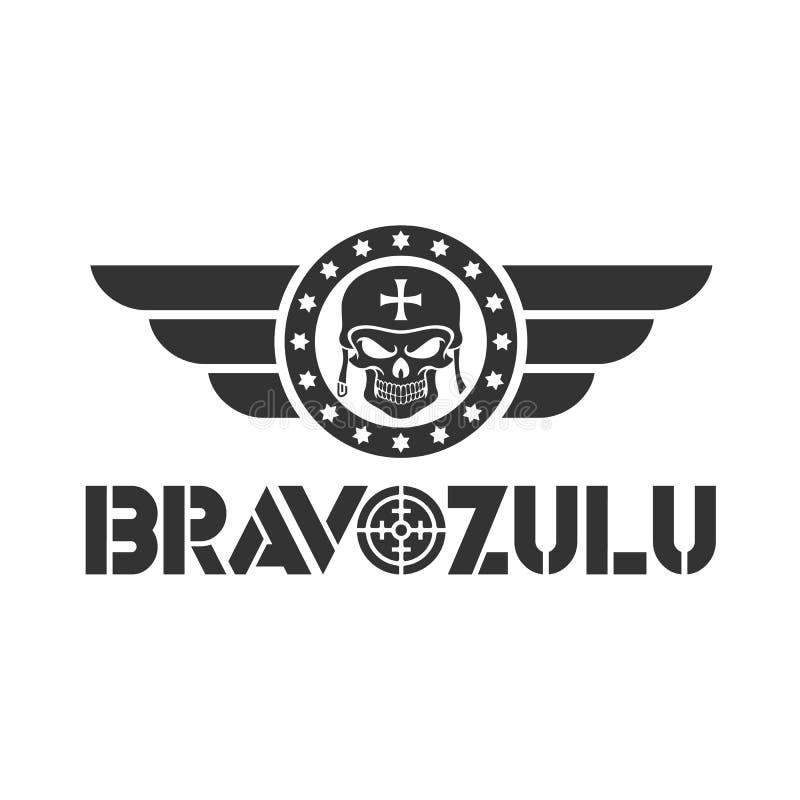 Bravo zulu design logo template stock illustration