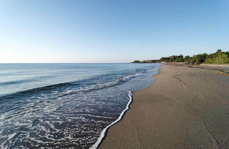 Bravone Beach in Corsica coast. Bravone coast in upper Corsica royalty free stock images