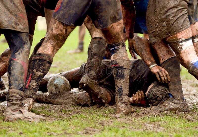 Brawl van het rugby sport stock afbeelding