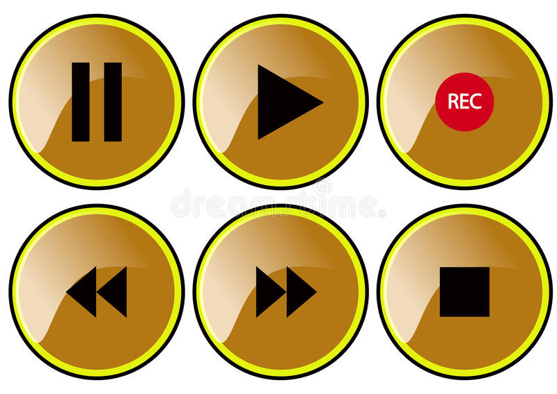 Download Braun buttons stock vector. Image of rollover, interface - 29790029