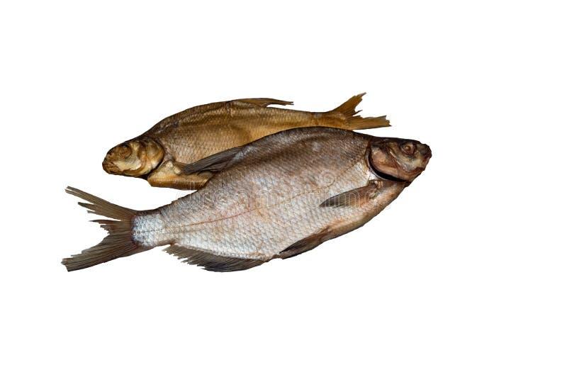 Braxen för två fisk, ett torkat rimmat, saltat annat, rökt kallt royaltyfria bilder