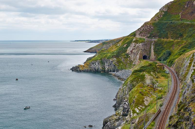 Bray Cliff Walk stock foto