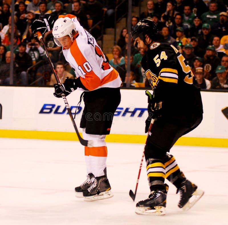 Brayden Schenn Philadelphia Flyers. Philadelphia Flyers forward Braden Schenn #10 stock photos