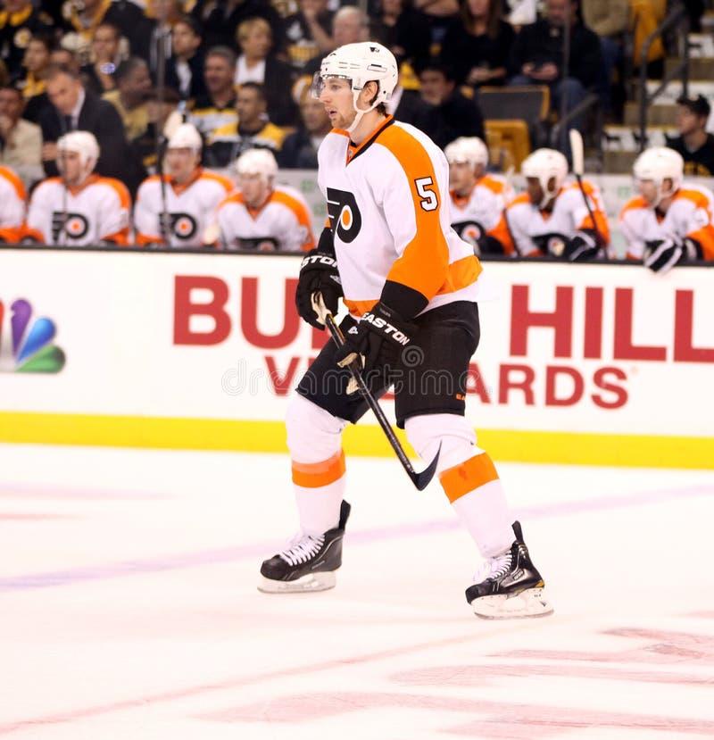 Braydon Coburn Philadelphia Flyers Defenseman. Philadelphia Flyers defenseman Braydon Coburn #5 stock photography