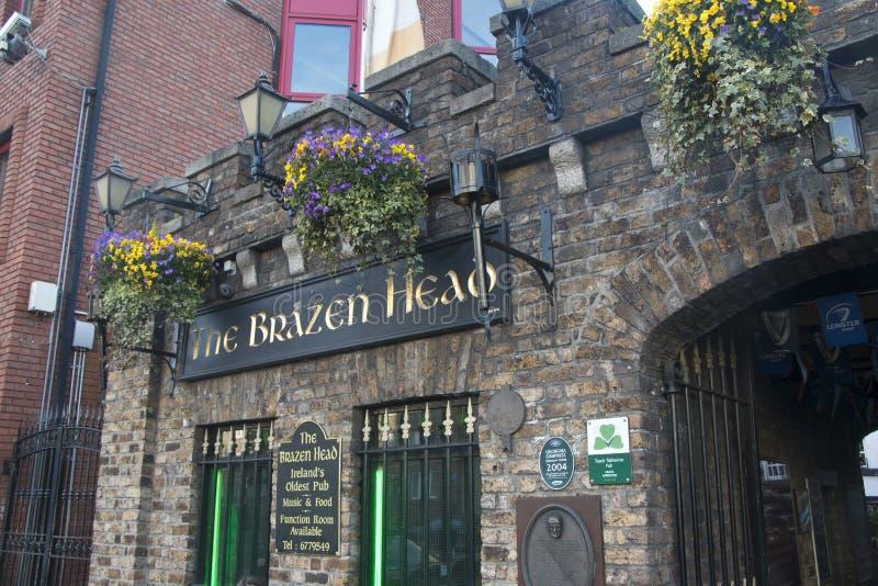 The Brazen Head claims to be Irelands oldest pub, Dublin. City, County Dublin, Ireland stock photography