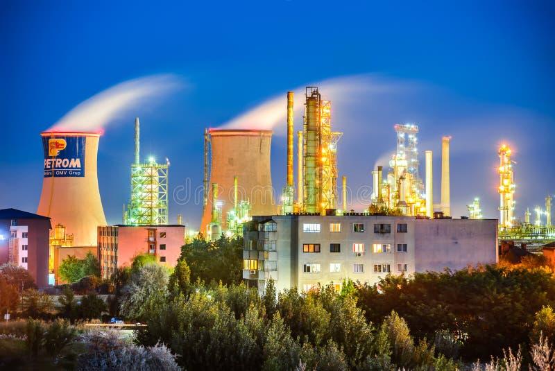 Brazi炼油厂,罗马尼亚 库存图片