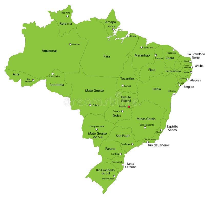 Brazil royalty free illustration