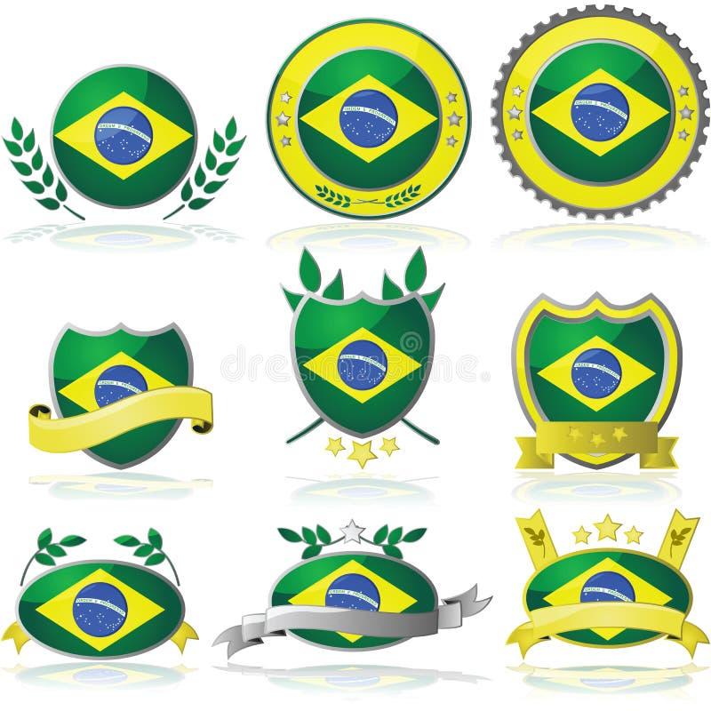 Brazil Badges Royalty Free Stock Photo