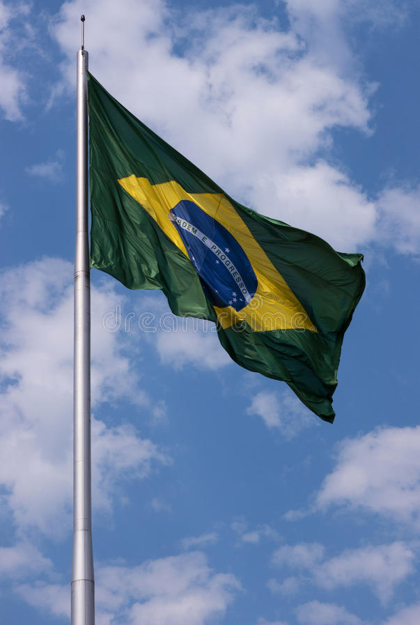 Brazil& x27; bandera de s fotografía de archivo libre de regalías