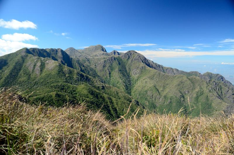 Brazil Mountain. Capim Amarelo Peak. Mantiqueira hill. Minas Gerais Estate, Brazil stock photography