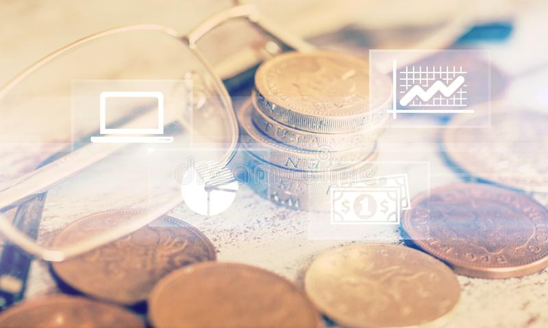 Brazil. Financial background ian economic inflation real royalty free stock photography