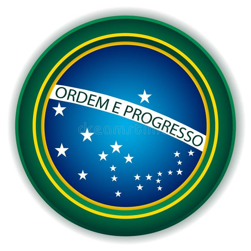Brazil Button Flag vector illustration