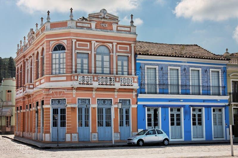 brazil byggnad catarina historiska laguna santa royaltyfri bild