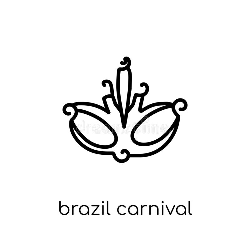 Brazil carnival mask icon from Brazilian icons collection. royalty free illustration