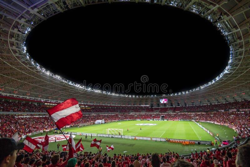 Brazil championship soccer match stock photography