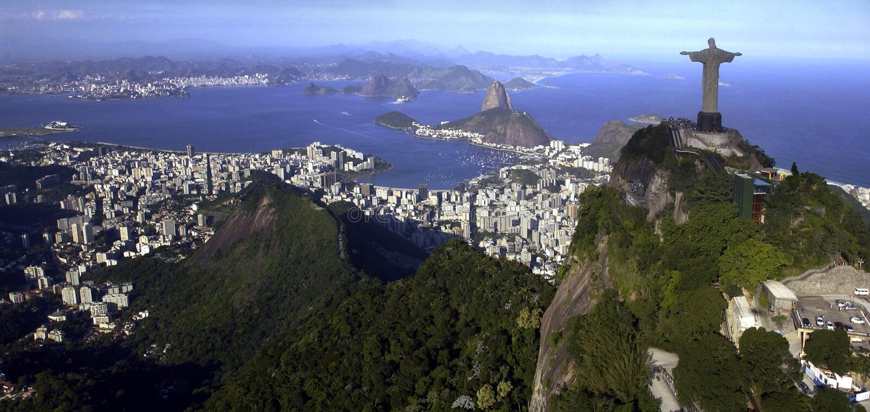 brazil christ de janeiro redeemer rio arkivbild