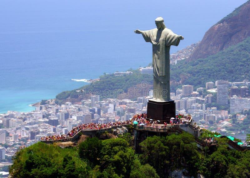 brazil christ de janeiro redeemer rio royaltyfria foton