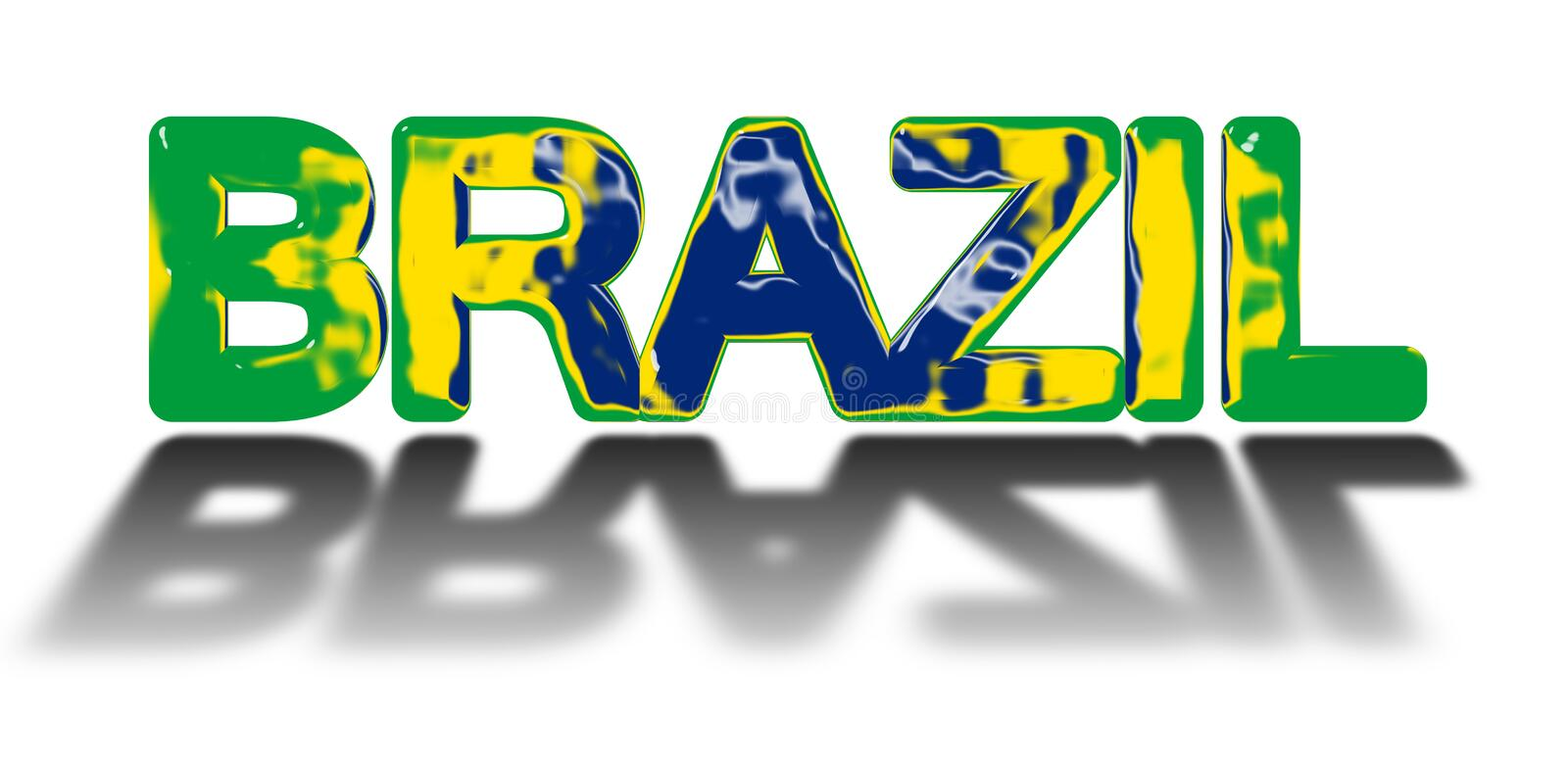 Brazil Country Concept Stock Illustration