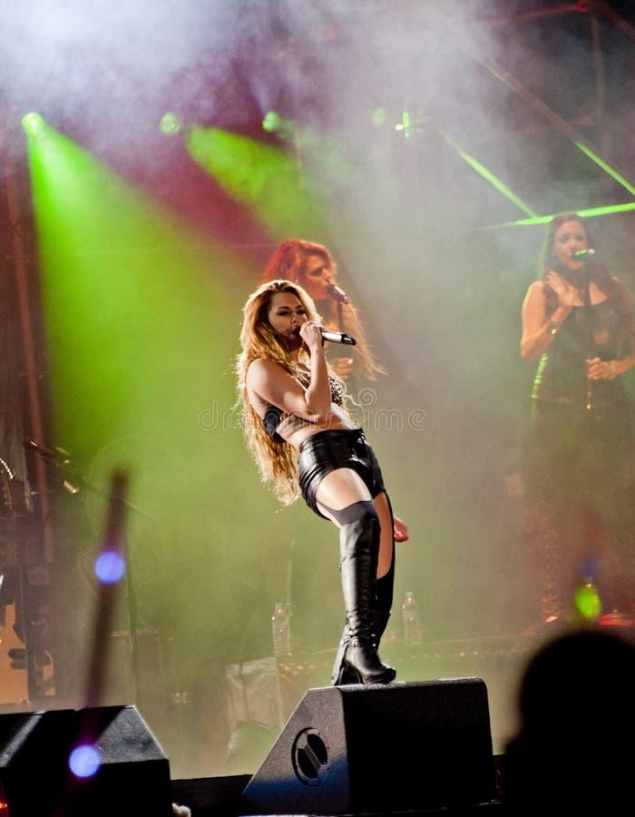 brazil cyrus gypsy kierowy miley przedstawienie zdjęcie royalty free