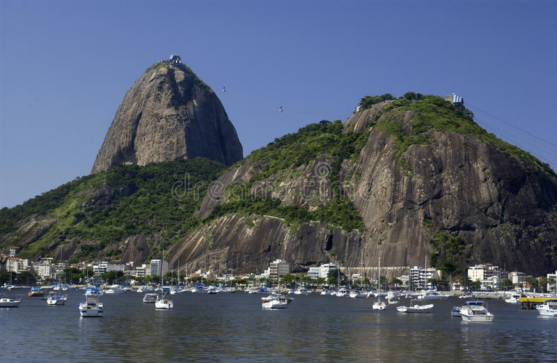 brazil de janeiro bergrio sugarloaf royaltyfria bilder