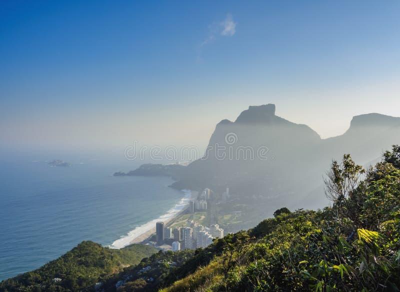 brazil de janeiro släntrar visat bergrio socker fotografering för bildbyråer