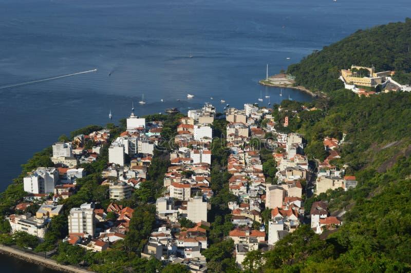 brazil de janeiro släntrar visat bergrio socker arkivbild