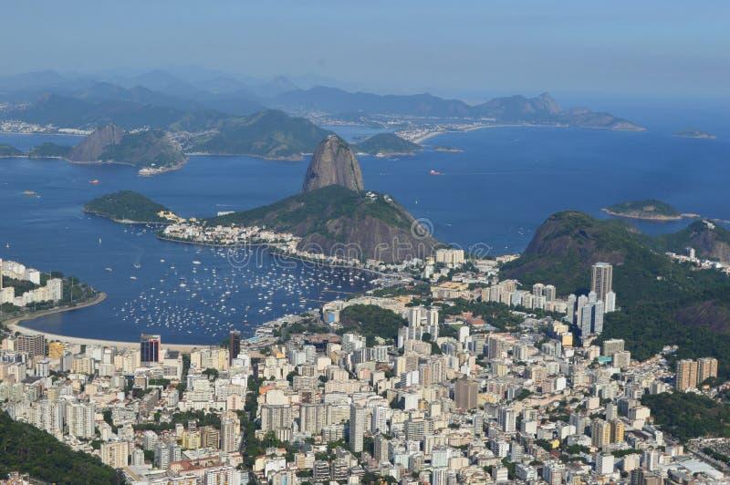 brazil de janeiro släntrar visat bergrio socker royaltyfria foton