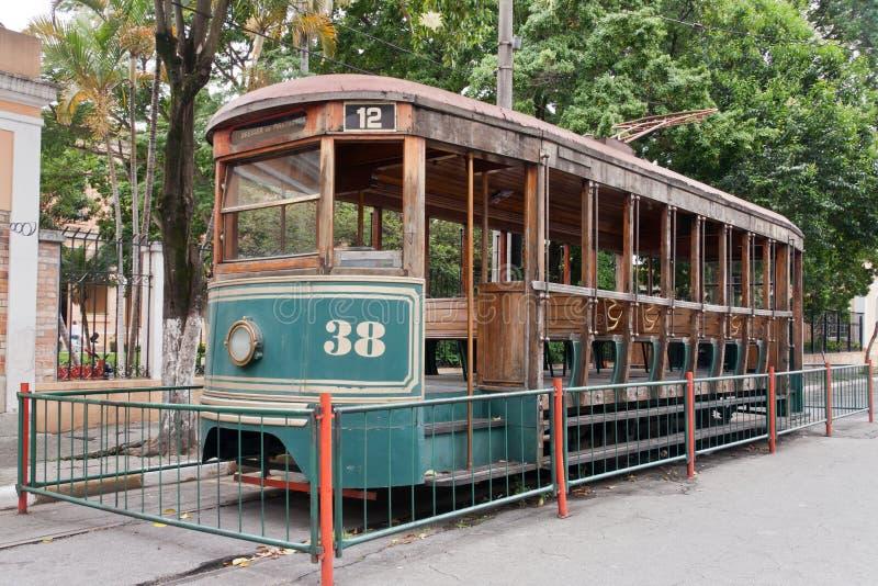 brazil elektrisk historisk paulo saospårvagn fotografering för bildbyråer